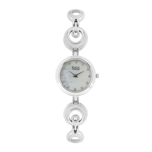 Titan Raga Women Pearly White Dial Watch NH2540SM03