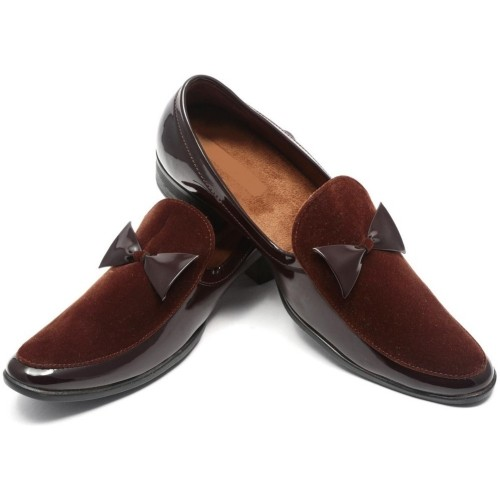 Ziesha Slip On  Brown Loafers Casual solid Loafers For Men