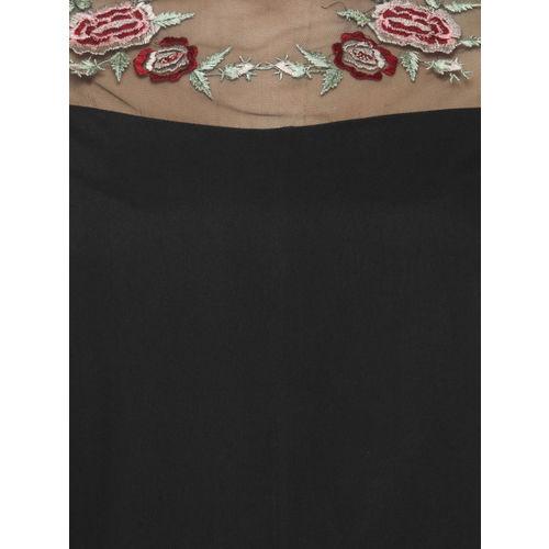 Oxolloxo Women Black Printed Top