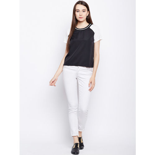 Oxolloxo Women Black Solid Top