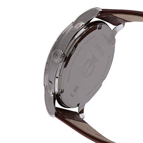 Titan Smartsteel Analog Silver Dial Men's Watch-1489SL02
