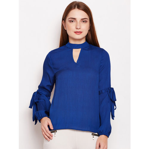 Oxolloxo Women Blue Solid Top