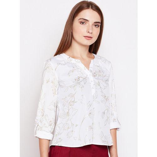 Oxolloxo Women White Printed Top