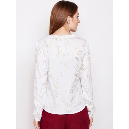 Oxolloxo Women White Printed Top