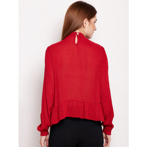 Oxolloxo Women Red Solid Top