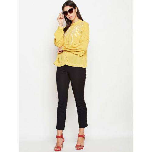 Oxolloxo Women Yellow Solid Top