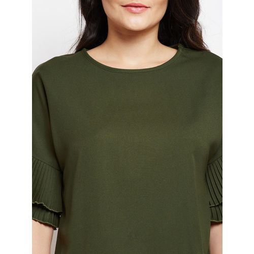 Oxolloxo Women Green Solid Top
