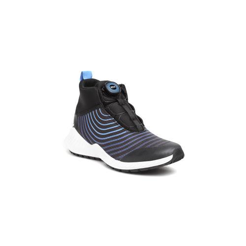 Adidas Kids Black & Blue FortaTrail BOA K Striped Training Shoes