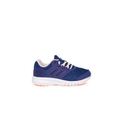 timeless design 5728f a9041 ... Adidas Kids Blue Galaxy 4 Running Shoes ...
