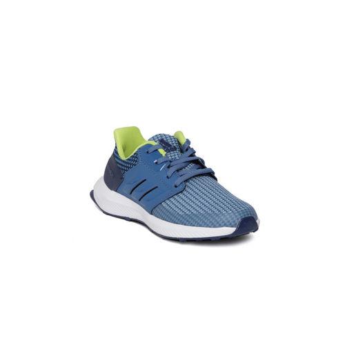 Adidas Kids Blue Rapidarun Woven Design Running Shoes