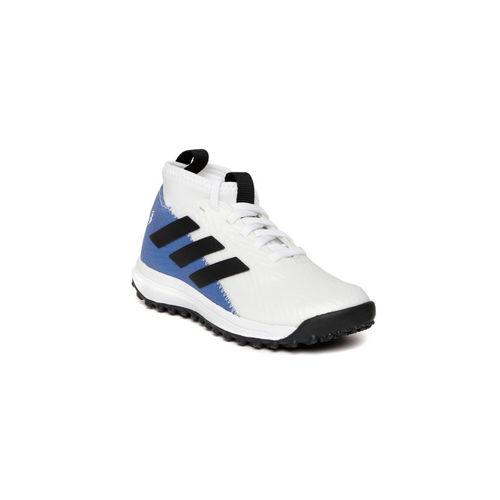 Adidas Kids White & Blue Rapidaturf Messi Training Shoes