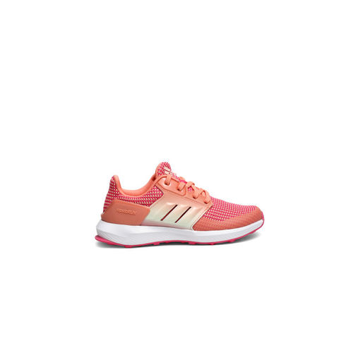Adidas Unisex Peach-Coloured Running Shoes