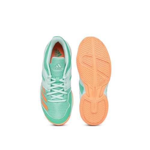 Adidas Kids Green Wucht Junior Badminton Shoes