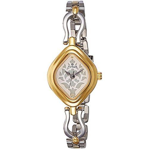 Titan Analog White Dial Women's Watch -NK2536BM02