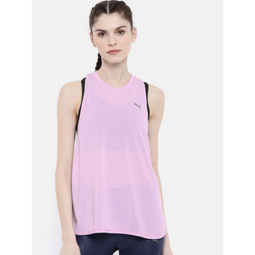 Puma Women Pink Solid dryCELL Tank W Mono Running Top