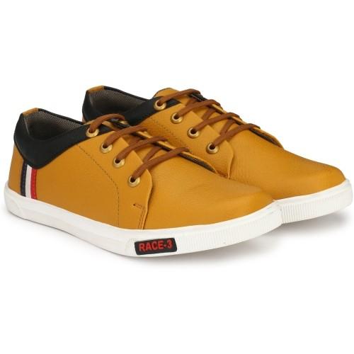 Uniik party wear Tan shoes Canvas Shoes For Men