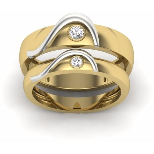Anvi Jewellers Love Couple Rings for Girls and Boys Best Valentines Day Gift Stainless Steel Ring Set