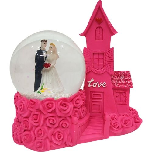 FABZONE Valentine Romentic Love Couple Statue for Girl & Boy with Lighting Effect Handicraft Figurine Home Interior Decorative Gift Item Decorative Showpiece - 12 cm