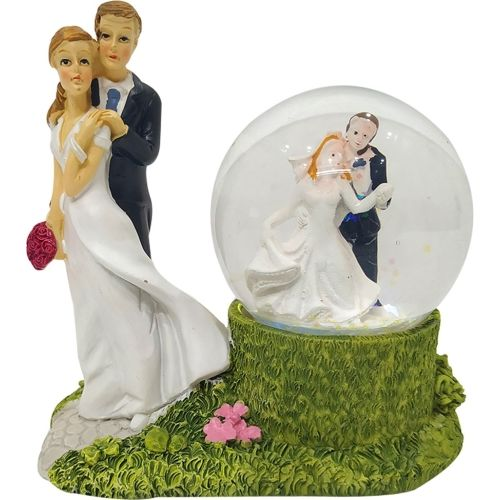 FABZONE Valentine Romentic Love Couple Statue for Girl & Boy with Lighting Effect Handicraft Figurine Home Interior Decorative Gift Item Decorative Showpiece - 11.5 cm