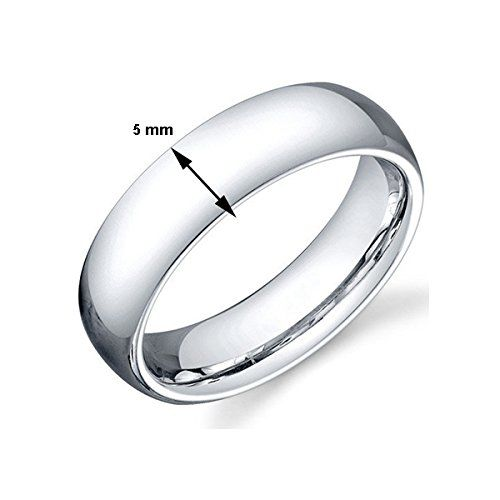 Sterling Silver 5mm His & Hers Classical Plain Band Ring by Ananth Jewels