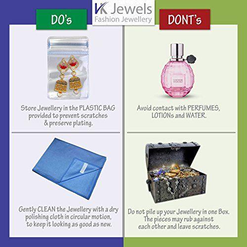 V K Jewels VK Jewels Love Rhodium Plated Ring for girls - FR1172R Size-10 [VKFR1172R10]
