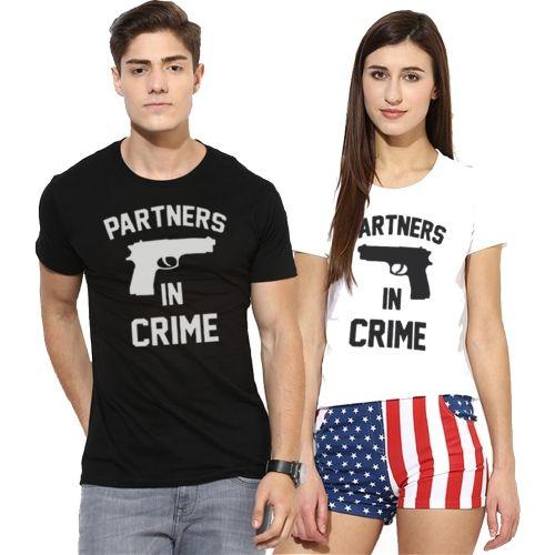 Young Trendz Typography Men & Women Round Neck White, Black T-Shirt