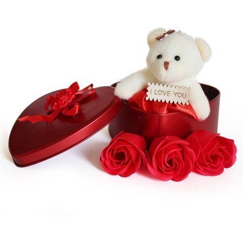 Royle Katoch Artificial Flower, Soft Toy Gift Set