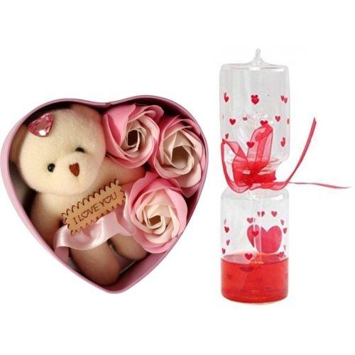 Lata Showpiece, Artificial Flower, Soft Toy Gift Set