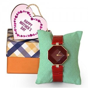 TIED RIBBONS Mothers Day Special Gifts for Mother Wrist Watch with Wooden Tag
