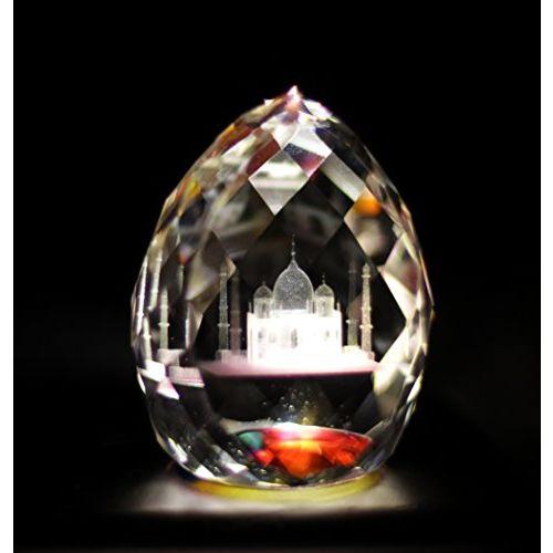 Lilone Decorative Designer Crystal Taj Mahal Showpiece for Valentine Gifts for Girlfriend | Home/Living Room/Bedroom/Home Dcor/Gift Item