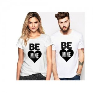 2cbbc858 Buy Melcom Mr and Mrs Half Sleeves black Cotton Couple T Shirt (Pack ...