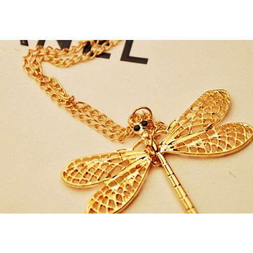 New Arrival Dragon Fly Star model Necklace Pendant Chain for girls women