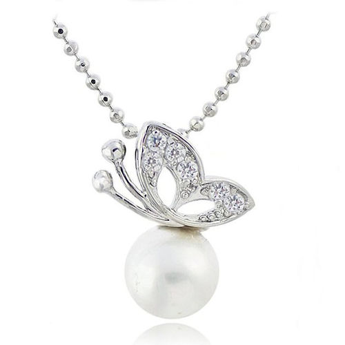 2016 Design Special Drill with Butterfly Pearl Necklaces Pendants