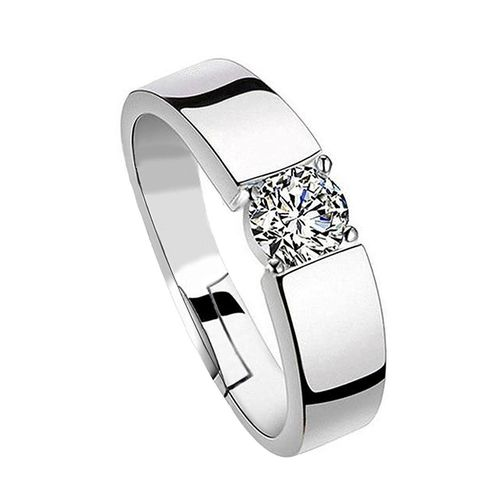Style Stop His Her Engagement Adjustable Couple Rings Sterling Silver Cubic Zirconia Zirconia 24K White Gold Plated Ring Set