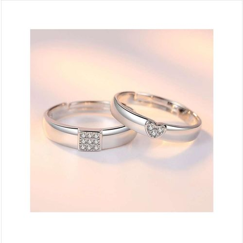 Others Gorgeous Sterling Silver Titanium Elements Love Couple Rings By Stylish Teens
