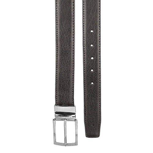 SPAIROW Men's Leather Wallet & Belt Combo -28(W213-PBL02) BEIGE::BROWN