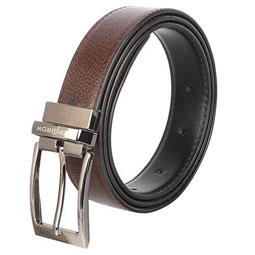 SPAIROW Men's Leather Wallet & Belt Combo -20 (W214-PBL09) TAN::BLACK