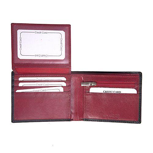 SPAIROW Men's Leather Wallet & Belt Combo -24(W343-PBL05) BLUE :: BLACK