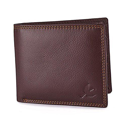 Hornbull Men's Brown Wallet and Black Belt Combo BW9347