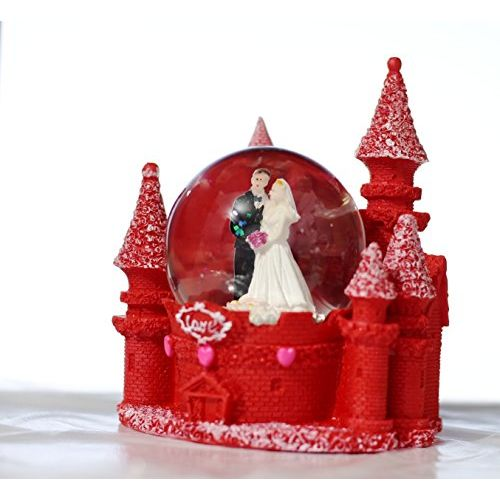 Lilone Valentine Special Beautiful Red Couple Fort Dome Showpiece Gift for Birthday, Anniversary, Girlfriend, Boyfriend, Husband and Wife