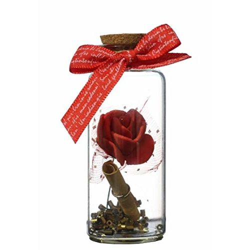 Lilone Rose Message Bottle | Gifts for Boyfriend Girlfriend Birthday Anniversary