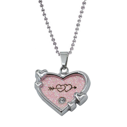 Sullery Double Heart and Arrow In Heart Pendant Necklace Girlfriend Valentine Gifts