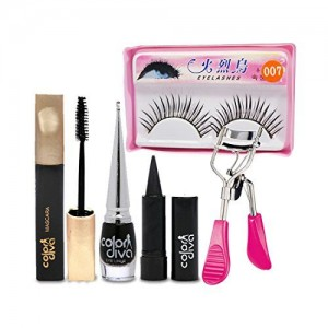 Adbeni Face Makeup Pallate With Eyelash & Curler Combo Set of 5 GC561