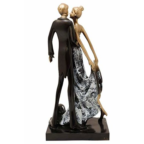 Aica Gifts Designer Romantic Love Couple Showpiece Statue.Gift for Girlfriend,Boyfriend,Husband and Wife.Gift for Wedding,annviersary,Birthday and Valentines