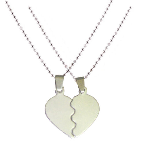 Men Style Couple BrokenHeart Love Stainless Steel Pendent For Men And Women