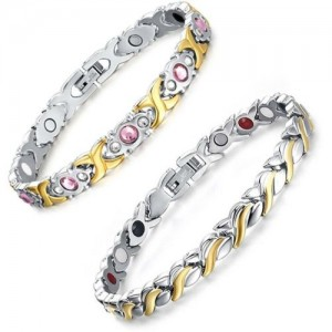 0963393ad9b5ad University Trendz Metal, Stainless Steel Gold-plated Bracelet Set. ₹1529  ₹6799 Flipkart