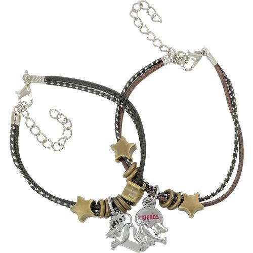 Saizen Stainless Steel Rhodium Bracelet