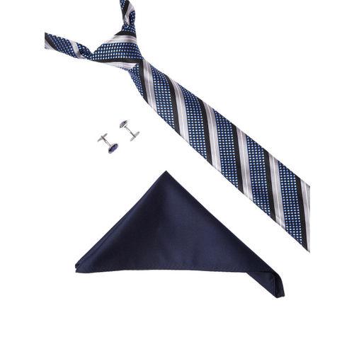 Alvaro Castagnino Men Blue, Grey & Silver-Toned Accessory Gift Set