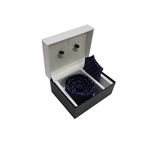 Generic Royal Attire Men Blue Tie, Cufflink And Pocket Square Gift Set