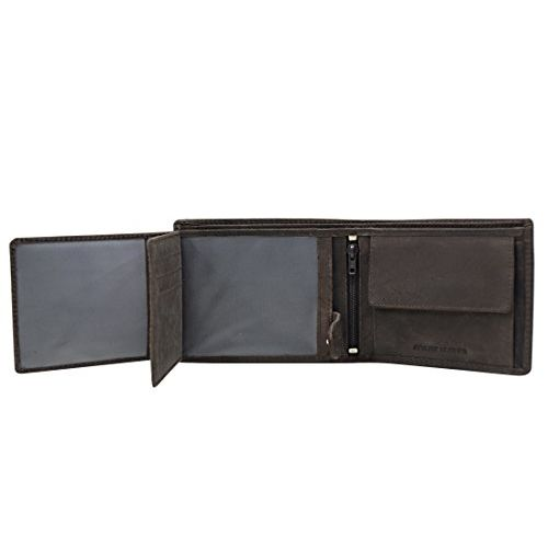 Urban Forest Harry Dark Brown Leather Wallet and Keyring Combo Gift Set for Men - Men's Wallet Combo